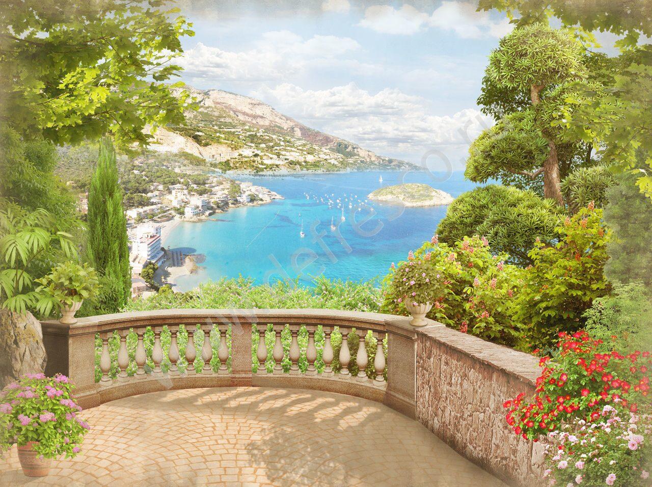 Вид из окна, балкона, террасы - designecoprint.