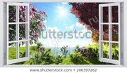 landscape-overlooking-sunny-flowering-meadow-450w-206397262