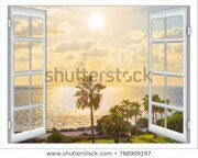 view-open-window-curtain-caribbean-450w-788909197