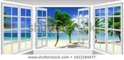 summer-sunny-day-view-window-450w-1022284477
