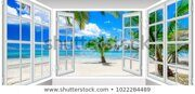 summer-sunny-day-view-window-450w-1022284489