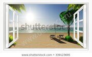 tropical-beach-view-sea-window-450w-339123695